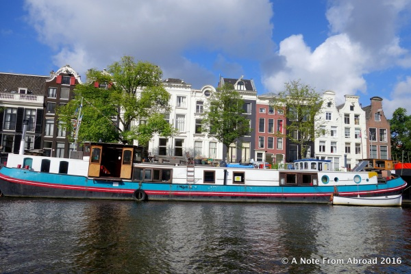 On the canal cruise through Amsterdam