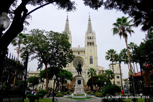 The Cathedral of Saint Peter at entrance to Iguana Park