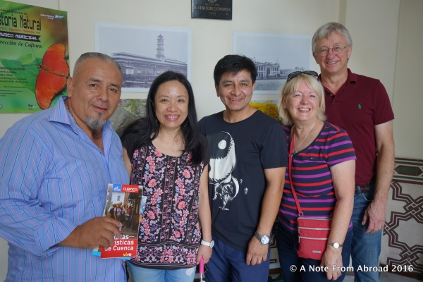Our guide, Fernando with Rica, Fred, Joanne, Tim