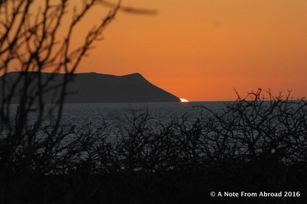 Beautiful sunset brought us a joyous end to our first day in the Galapagos Islands