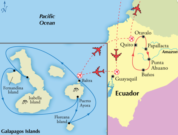 15 Day Ecuador with 5 Day Western Galapagos Islands Itinerary - Gate 1