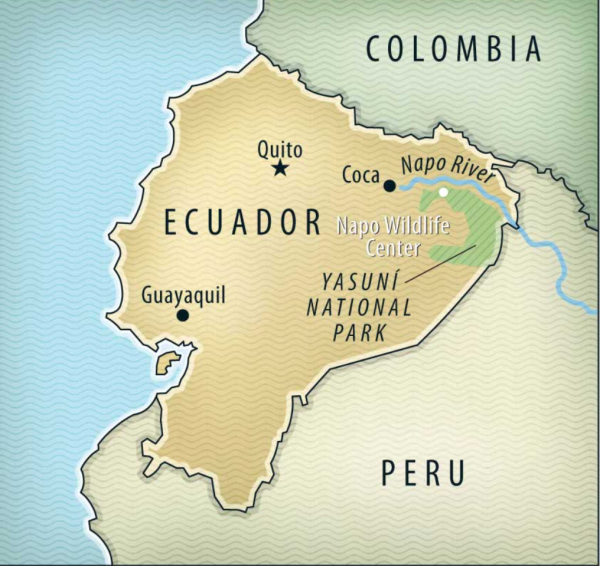This map shows where Guayaquil is