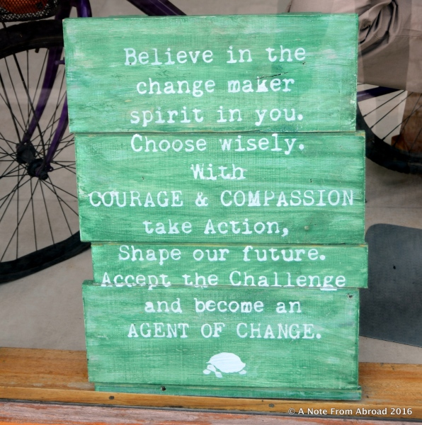 I loved this sentiment, shown in a shop window