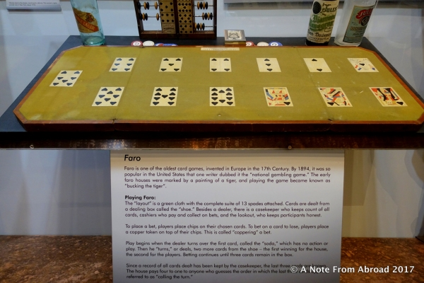 Faro gambling table