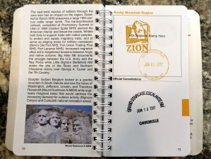 Zion and Grand Staircase Stamps