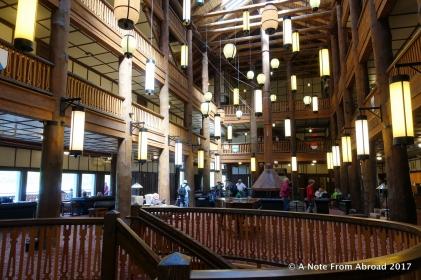 Interior of Many Glacier Hotel