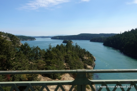 Crossing the bridge onto Whidbey Island