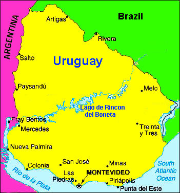 Uruguay map 2 A Note From Abroad