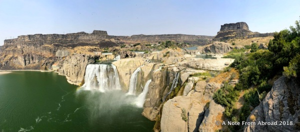 Idaho Twin Falls Shoshone Falls A Note From Abroad