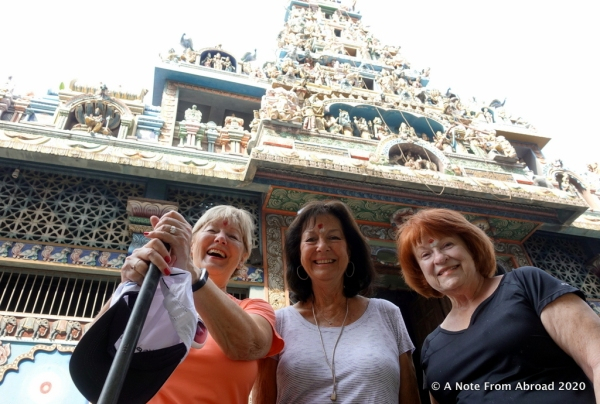 Joanne, Karen and Jan with our Hindu head dots